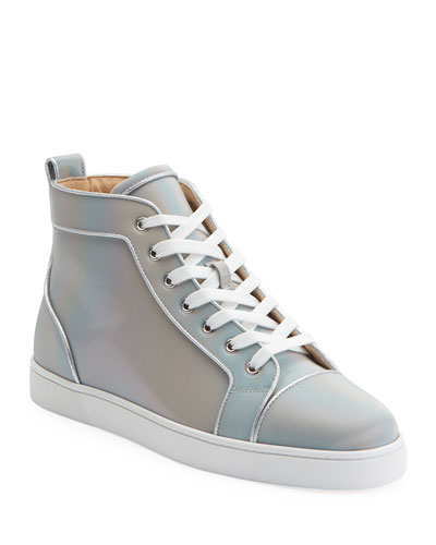 Men's Louis Orlato Leather High-Top Sneakers
