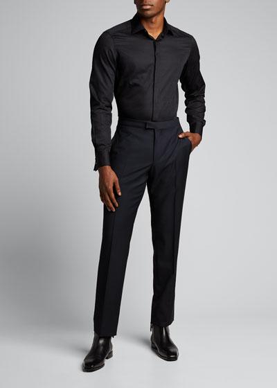 Men's Formal Hidden-Placket Dress Shirt