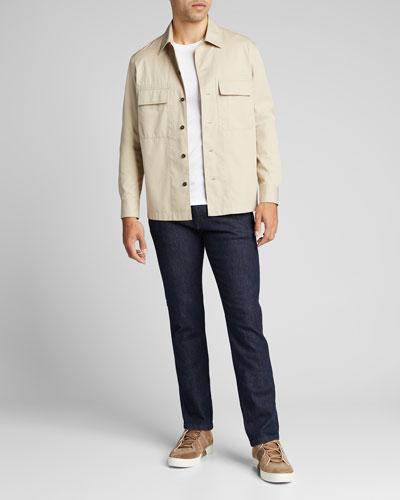 Men's Solid Mercerized Cotton T-Shirt