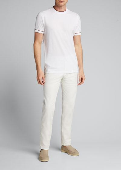 Men's Crewneck Short-Sleeve Golf T-Shirt