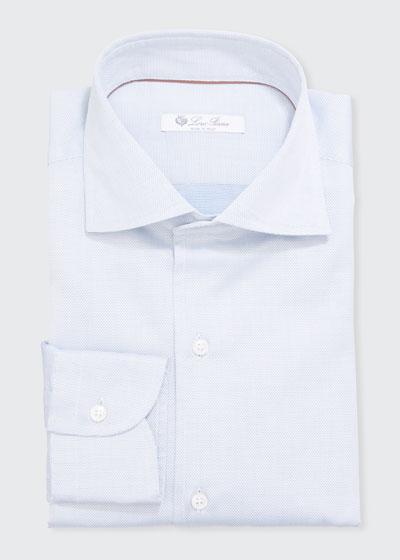Men's Textured Poplin Dress Shirt