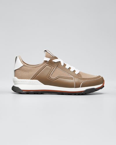 Men's Siracusa Mesh & Leather Trainer Sneakers