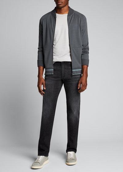 Men's Canton Jersey Bomber Jacket