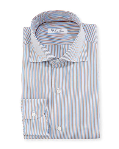 Men's Striped Slim-Fit Dress Shirt