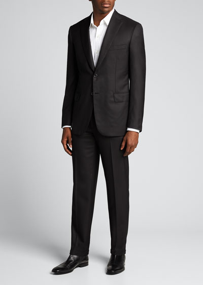 Men's Brunico Basic Virgin Wool Two-Piece Suit