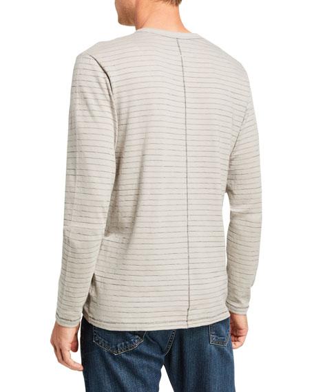Men's Railroad Striped Long-Sleeve T-Shirt