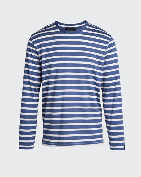 Men's Henry Striped Long-Sleeve T-Shirt