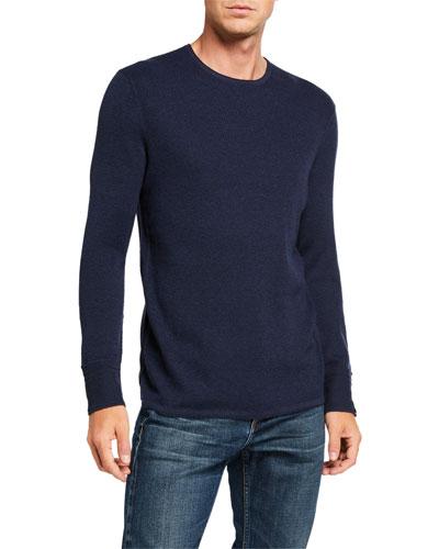 Men's Davis Solid Wool-Linen Sweater