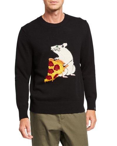 Men's Pizza Rat Crewneck Sweatshirt