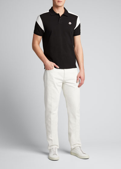 Men's Colorblock Jersey Polo Shirt