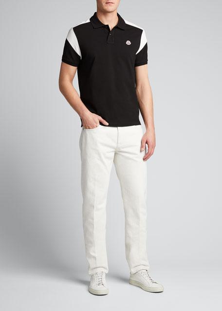 Men's Colorblock Jersey Polo Shirt
