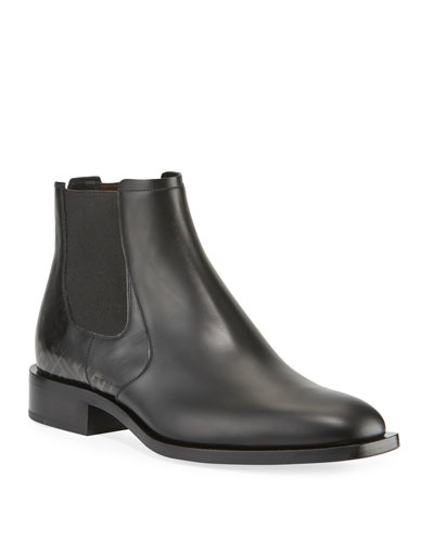 Men's Faded FF Leather Chelsea Boots