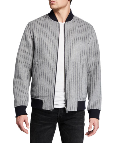 Men's Jorge Striped Double-Face Jacket