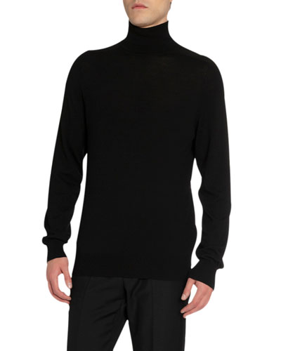 Men's Bonded Tape Turtleneck Sweater