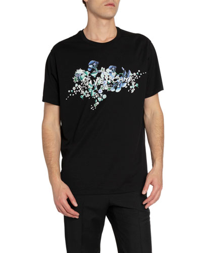 Men's Floral Logo Crewneck T-Shirt