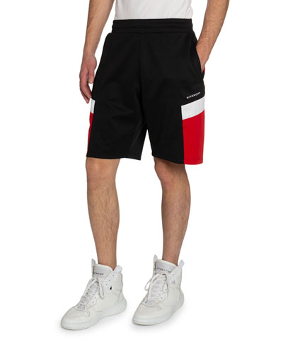 Men's Contrast-Panel Sweat Shorts