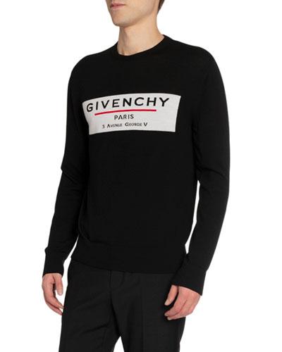Men's Label Graphic Crewneck Sweater