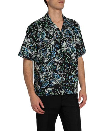 Men's Floral-Print Hawaiian Shirt