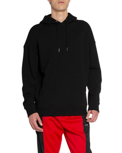 Men's Embroidered-Typographic Pullover Hoodie