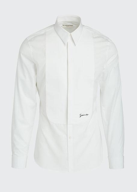 Men's Classic Plastron Shirt With Logo