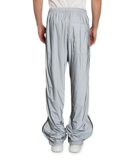 Men's Printed Technical Nylon Jogger Pants