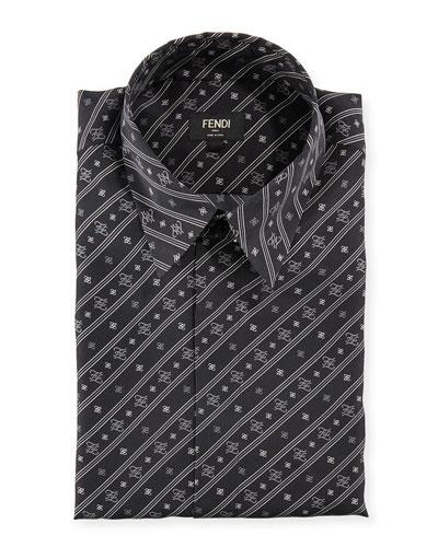 Men's Karligraphy Silk Dress Shirt