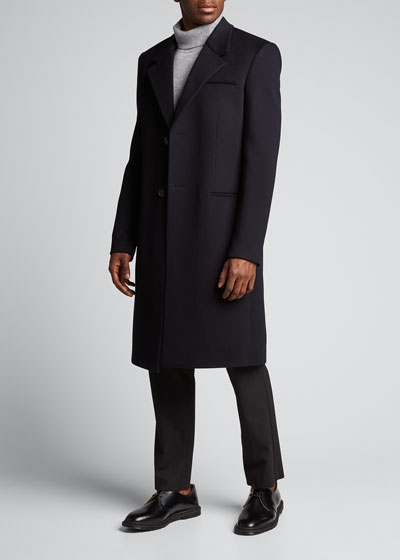 Men's Solid Wool-Cashmere Overcoat