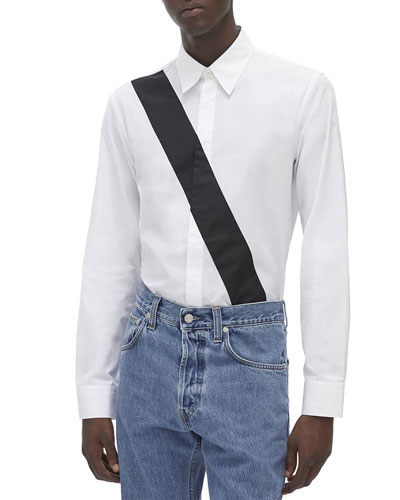 Men's Slash-Band Dress Shirt