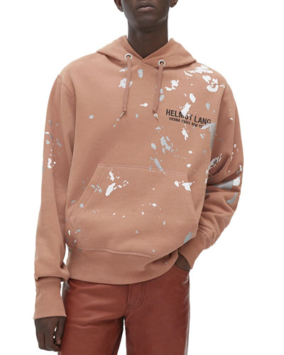 Men's Paint Splattered Pullover Hoodie