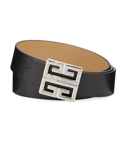 Men's Reversible 4G-Buckle Leather Belt