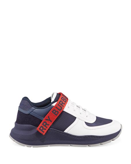 Men's Ronnie Logo-Strap Colorblock Sneakers