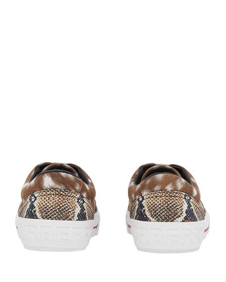 Men's Mixed Animal-Print Skate Sneakers
