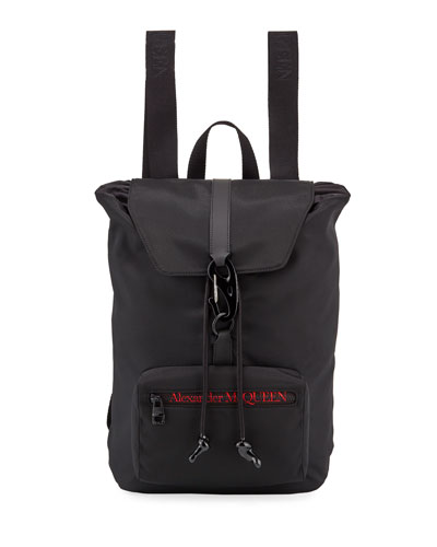 Men's Logo Messenger Backpack