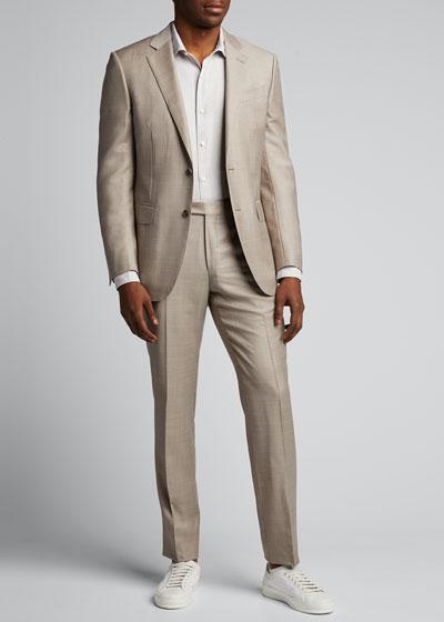 Men's Solid Linen-Cotton Sport Shirt