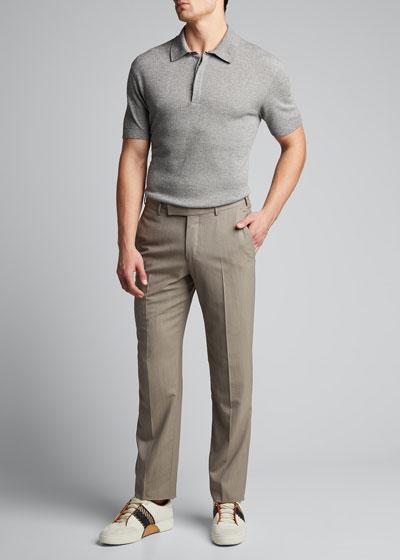 Men's Melange Tic Polo Shirt