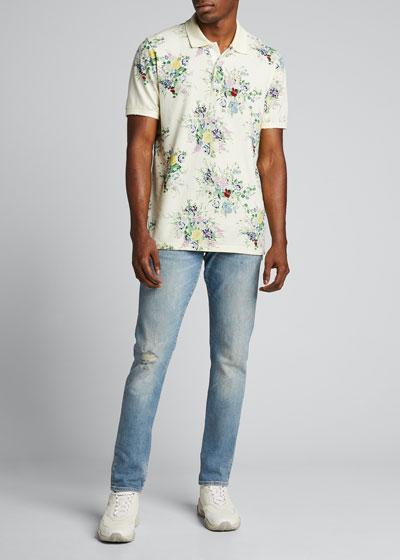Men's Skinny Light-Wash Gallery Jeans