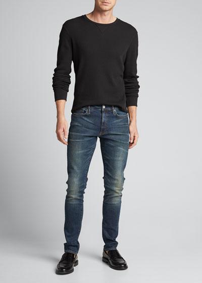 Men's Skinny Indigo Resin Jeans
