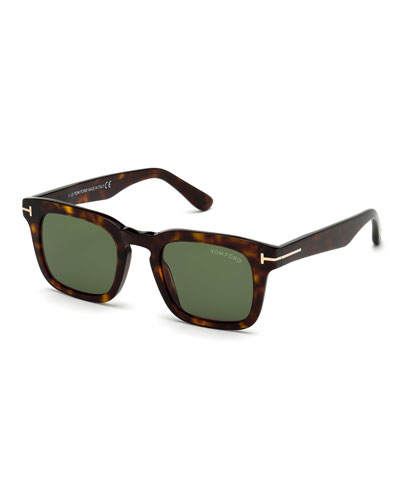 Men's Dax Square Tortoiseshell Sunglasses
