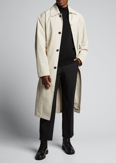 Men's Water-Repellant Trench Coat w/ Belt