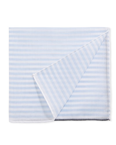 Men's Buren Striped Pocket Square