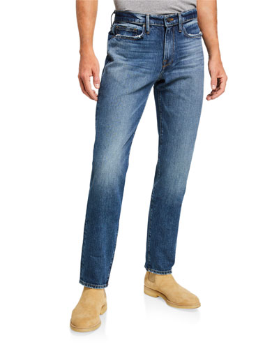 Men's L'Homme Slim Mid-Wash Jeans