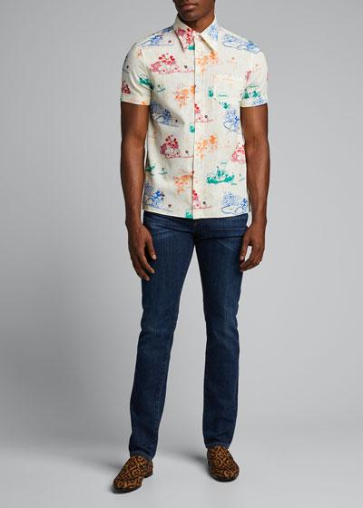 Men's x Disney Mickey Mouse Print Shirt