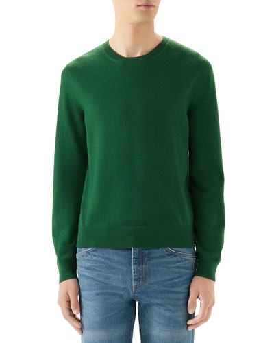 Men's Basic Cashmere Sweater