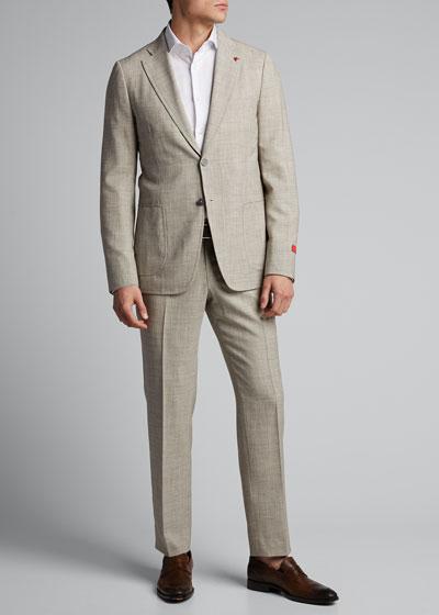 Men's Solid Two-Piece Suit