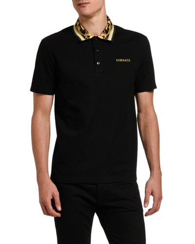 Men's Baroque-Collar Polo Shirt