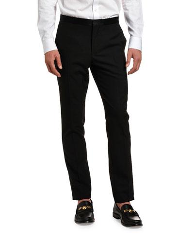Men's Solid Wool Tuxedo Pants