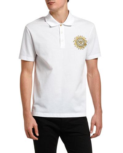 Men's Baroque Medusa Pique Polo Shirt