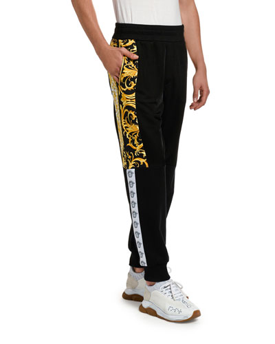 Men's Baroque-Inset Sweatpants