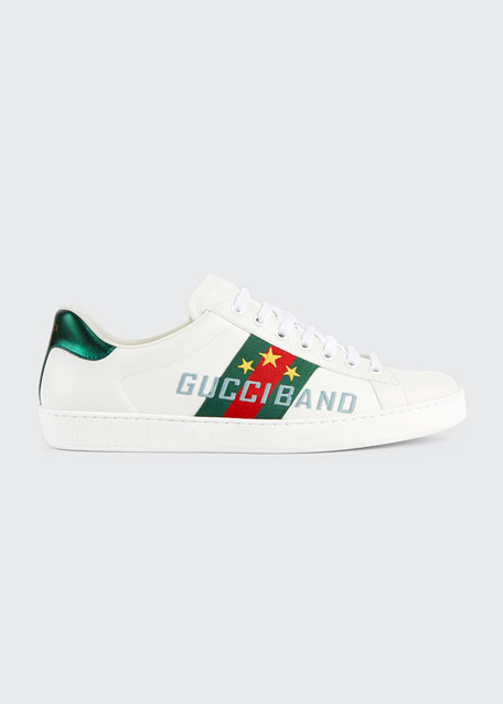 Men's Ace Sneakers with Gucci Band