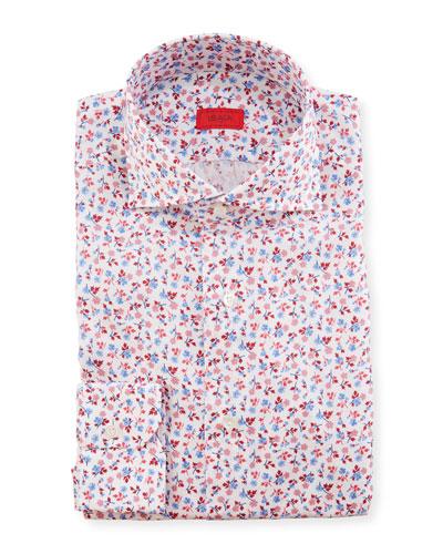 Men's Mini Floral Dress Shirt
